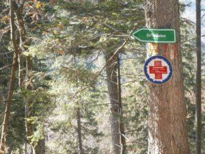 Kampenwand Weg 20 Schild zur Talstation