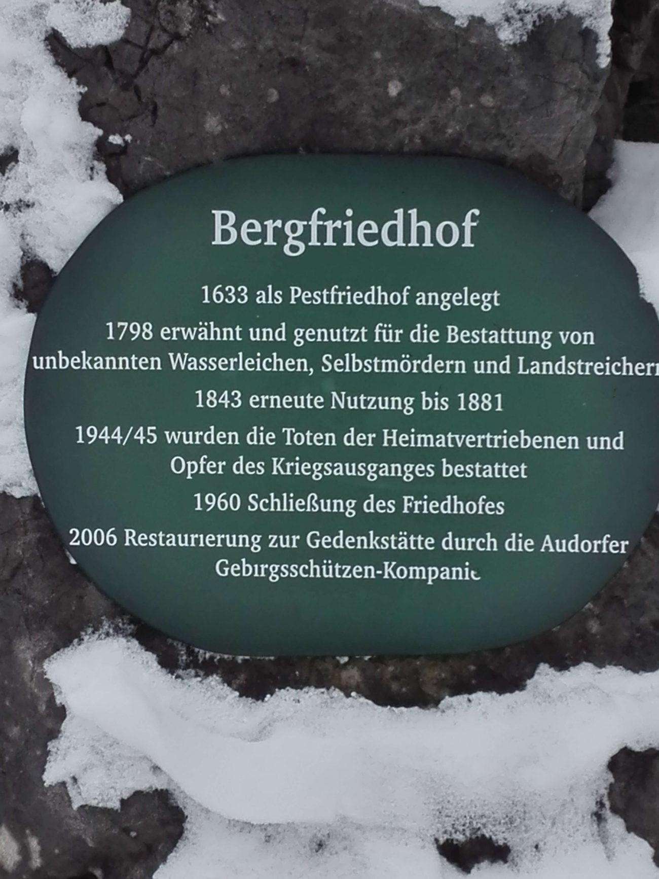 13 Hocheck Foststrasse Bergfiedhof