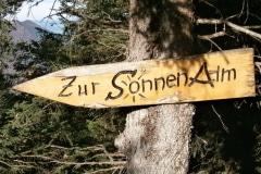 Kampenwand-Schild-zur-Sonnenalm