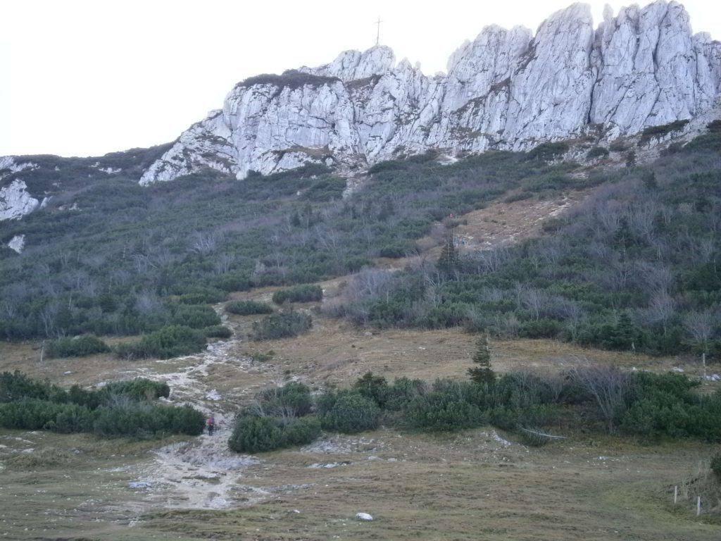 Bild Weg zum Kampenwand Gipfelkreuz