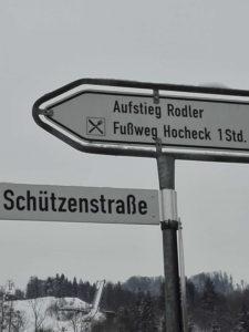 Bild Schild Rodelbahn Hocheck