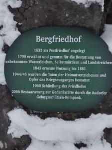 Bild Hocheck Foststrasse Bergfiedhof