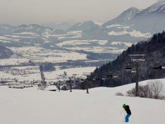Bild Hocheck Skilift Blick ins Tal